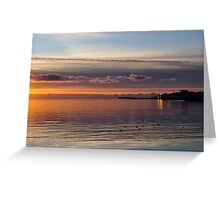 sun setting on galway, eire Greeting Card