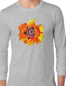 Red Poppy T Shirt Long Sleeve T-Shirt