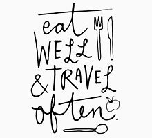 Eat Well & Travel Often Womens Fitted T-Shirt