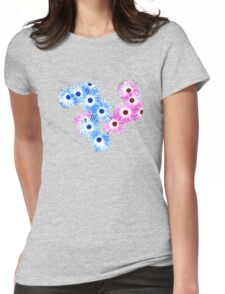 Blue/Pink Daisies T SHIRT Womens Fitted T-Shirt