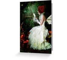 Butterfly Painter Greeting Card