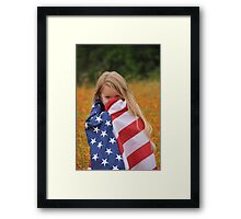 Giggly Patriot Framed Print