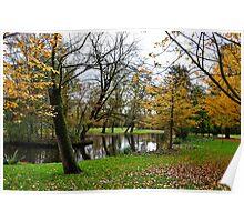 vondel park, autumnal amsterdam Poster