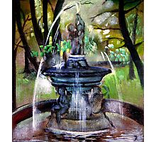 Fountain in the park Photographic Print