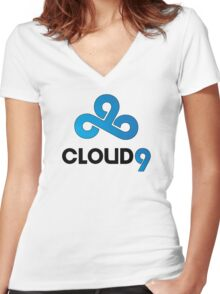 Cloud 9  Women's Fitted V-Neck T-Shirt