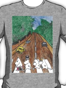 Moomins Parody Abbey Road  T-Shirt