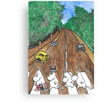 Moomins Parody Abbey Road  Canvas Print