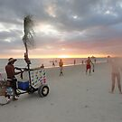 Fort  Myers Beach in The Evening  by MsLiz