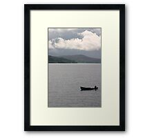 A day on the lake Framed Print