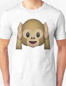 Monkey Emoji - Hear No Evil Unisex T-Shirt