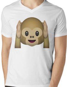Monkey Emoji - Hear No Evil Mens V-Neck T-Shirt