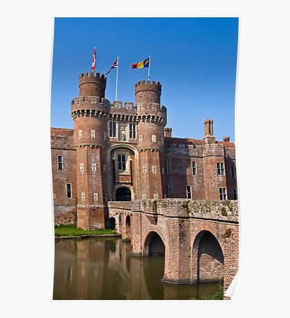 Moated English castle Poster