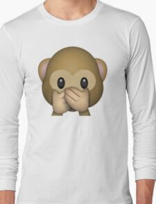 Monkey Emoji - Speak No Evil Long Sleeve T-Shirt