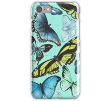 Butterflies Aqua iPhone Case/Skin