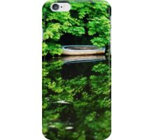 Reflecting Boat Sides iPhone Case/Skin