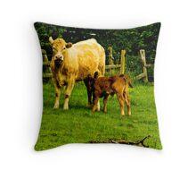 Mother & Calf Throw Pillow