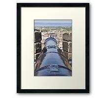 Cannon at Edinburgh Castle  Framed Print