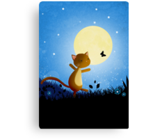 Follow your dreams - cat and butterfly Canvas Print