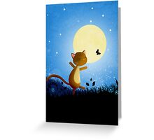 Follow your dreams - cat and butterfly Greeting Card