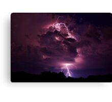 Lightning strike in Missouri Canvas Print