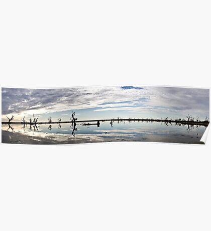 Lake Bonney Sunset Panorama Poster