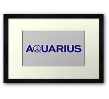 Aquarius TV Show Blue Framed Print
