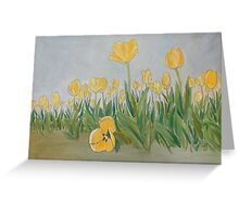 """DeeDee's Tulips"" Greeting Card"