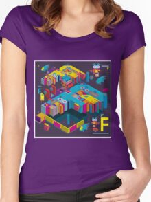 F graphics pattern 3 Women's Fitted Scoop T-Shirt