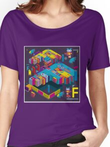 F graphics pattern 3 Women's Relaxed Fit T-Shirt
