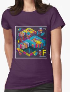F graphics pattern 3 Womens Fitted T-Shirt