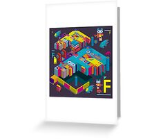 F graphics pattern 3 Greeting Card