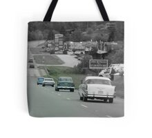 Driving Back In Time Tote Bag