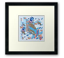 F graphics pattern 4 Framed Print