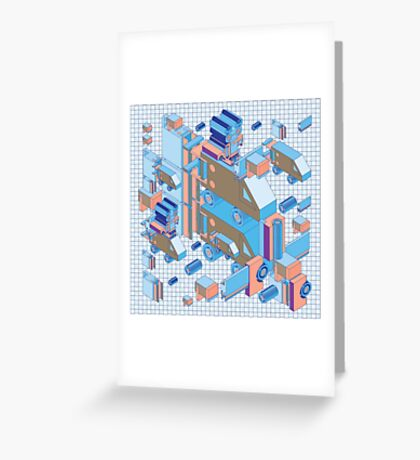 F graphics pattern 4 Greeting Card