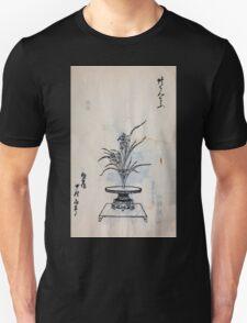 Yenshu ryu ikebana hiak bin no zu shiki konzatsu Flower arrangement in the Enshu style V2 1897 0005 T-Shirt