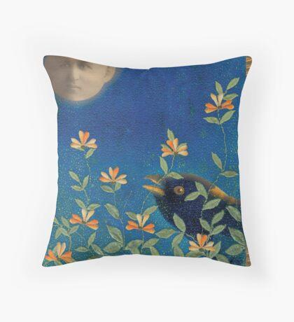 Night Garden Throw Pillow
