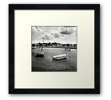 Looking back at Blakeney Framed Print