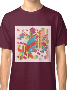 machine of robot vintage isometric Classic T-Shirt