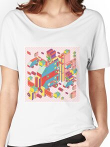 machine of robot vintage isometric Women's Relaxed Fit T-Shirt