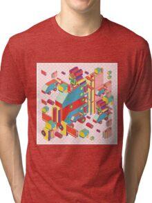 machine of robot vintage isometric Tri-blend T-Shirt