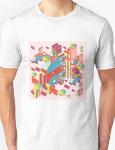 machine of robot vintage isometric Unisex T-Shirt