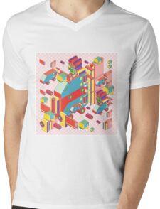 machine of robot vintage isometric Mens V-Neck T-Shirt