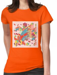 machine of robot vintage isometric Womens Fitted T-Shirt