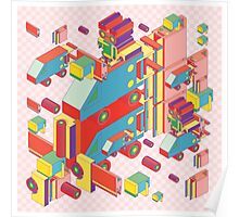 machine of robot vintage isometric Poster