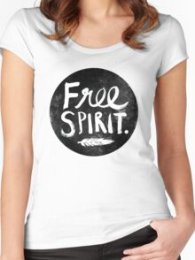 Free Spirit - Black Version Women's Fitted Scoop T-Shirt