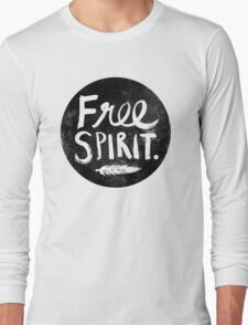 Free Spirit - Black Version Long Sleeve T-Shirt