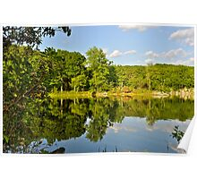 Late afternoon at Nuclear Lake, Pawling NY Poster