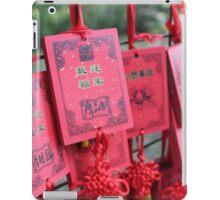 China - red prayer cards iPad Case/Skin