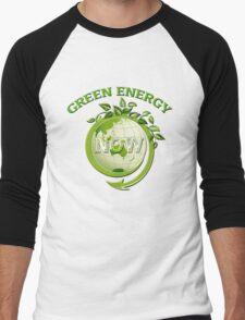 GREEN ENERGY NOW Men's Baseball ¾ T-Shirt