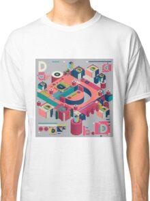 alphabet 3D letter D Classic T-Shirt
